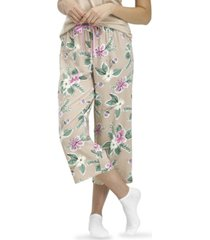 women's doeskin blossom classic pajama capri