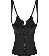 cintura formador corset chaleco mujer cremallera y gancho body shaper adelgaza la ropa interior