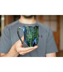 kubek ceramiczny zielona głębia 325 ml