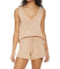 women's sndys celeste knit tank, size x-large - beige
