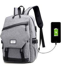 oxford large capacity travel 16 pollici laptop borsa zaino per uomo