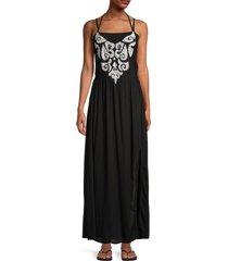 tiare hawaii women's kudeta maxi dress - black