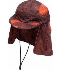 acne studios graphic-print hat - red