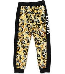 baroque print cotton sweatpants