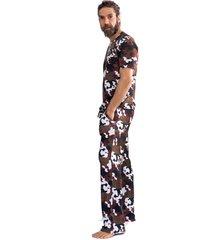 pijama thais gusmão longo militar savana militar