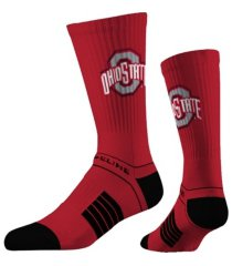 strideline ohio state buckeyes classic knit crew socks