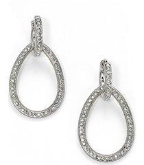 adriana orsini women's pavé teardrop earrings