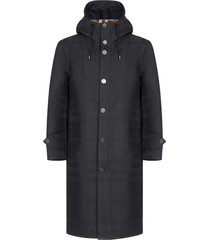 burberry hooded technical cotton trench coat