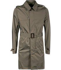 moorer belted waist concealed coat