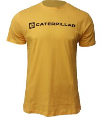 camiseta hombre roadwork ahead tee amarillo cat