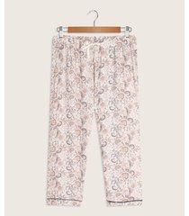 pantalón capri-crop estampado