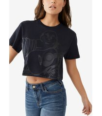 women's bella oversized buddha cropped crewneck tee