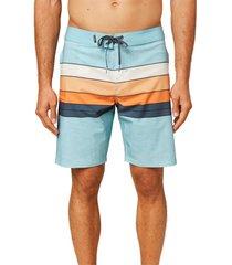 men's o'neill hyperfreak heist line board shorts, size 40 - blue
