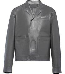 prada touch-strap blouson jacket - grey