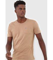 camiseta calvin klein bolso marrom