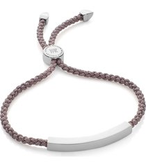 women's monica vinader engravable linear friendship bracelet