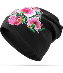 cappello da donna in cotone con ricamo traspirante