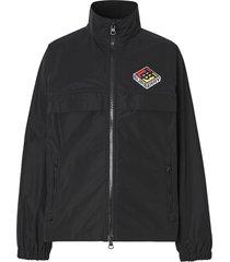burberry logo taffeta jacket - black
