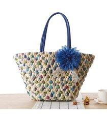 2017 new summer bag for beach big straw bags handmade woven tote women travel ha