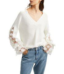 french connection caballo sweater, size small in winter white at nordstrom