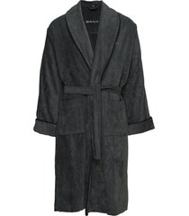 premium velour robe ochtendjas badjas grijs gant