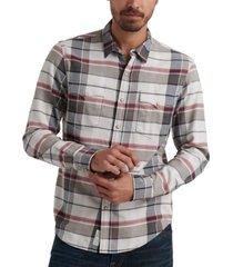 lucky brand men's derek snap plaid shirt