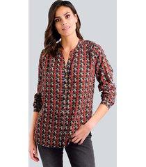blouse alba moda oranje::antraciet