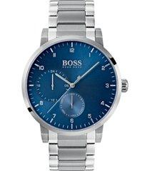 boss hugo boss men's oxygen stainless steel bracelet watch 42mm