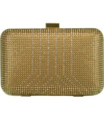 gold crystal yves minaudiere box clutch