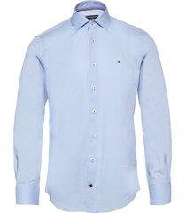 core poplin classic slim shirt overhemd business blauw tommy hilfiger