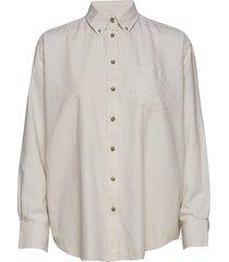 d2.winter faded flannel exb shirt overhemd met lange mouwen wit gant