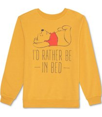 disney juniors' pooh i'd rather be in bed sweatshirt