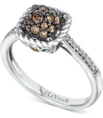 le vian chocolatier diamond cluster ring (1/2 ct. t.w.) in 14k white gold
