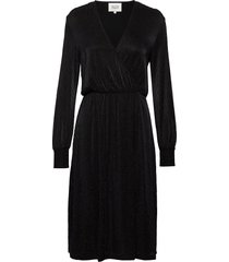 zeta dress jurk knielengte zwart second female