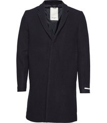 frielle tailored coat wollen jas lange jas blauw les deux