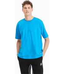 boxy tape t-shirt voor heren, blauw, maat s   puma