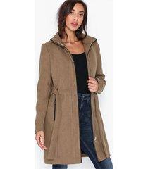 vero moda vmclassbessy 3/4 wool jacket ga kappor mörk brun