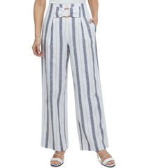 laundry by shelli segal striped wide-leg pants