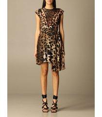 just cavalli dress just cavalli animal print short dress