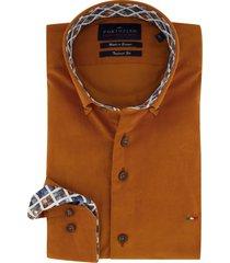 oranje overhemd mouwlengte 7 portofino