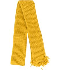 marni raw edge rib knit scarf - yellow
