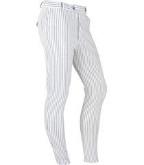 ferlucci heren pantalon model paulo stretch beige gestreept blauw