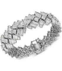 arabella cubic zirconia baguette bracelet in sterling silver