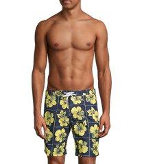 trunks surf + swim men's floral swim shorts - marine - size xxl