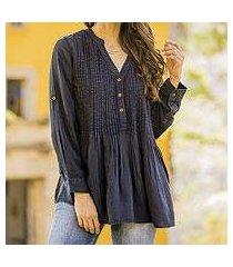 rayon pintuck blouse 'india breeze' (india)