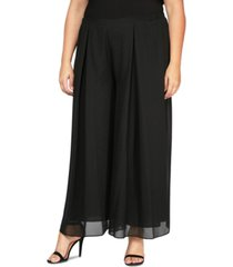 alex evenings plus size inverted-pleat pants