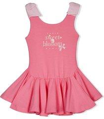 lapin house graphic-print ballerina dress - pink