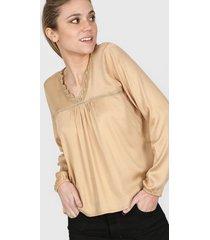 blusa camel nano emilia 0920