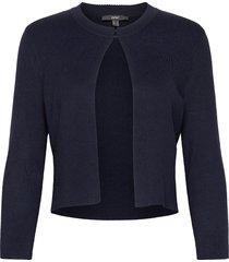 sweaters cardigan stickad tröja cardigan blå esprit collection
