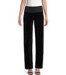 hard tail women's cotton-blend pants - black - size xs